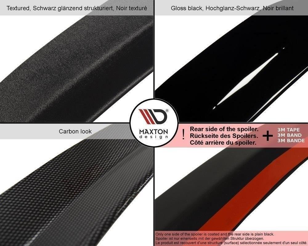 Heck Spoiler Aufsatz Abrisskante passend für AUDI S3 8P FL 2009-2013 Carbon Look