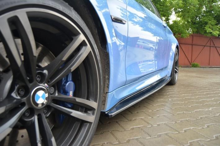 Seitenschweller Ansatz Cup Leisten passend für BMW M4 F82 schwarz matt