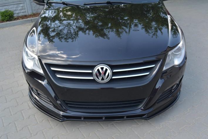 schwarz matt Cup Spoilerlippe VW Passat CC R36 RLINE vor Facelift
